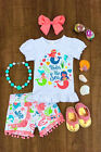 baby boutiques in shreveport la - Boutique Kids Baby Girl Mermaid Top T-shirt Short Pants Clothes Outfit Summer US