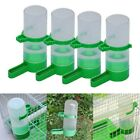 US 4pc Set Pet Bird Cage Water Drinker Food Feeder  Waterer Clip For Aviary Cage
