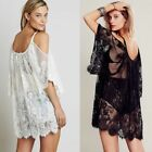 Women Bathing Suit Lace Crochet Bikini Swimwear Cover Up Casual Beach Lace Dress