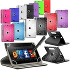 "New Universal Case Folio Leather Cover For Android Tablet PC 9.7"" 10"" 10.1"" &Pen"