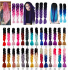 black red purple hair - Real Jumbo Braiding Hair Extension Ombre Kanekalon Twist Braids Any Colors lk