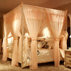 Double layers bed curtain mosquito net luxury bed netting stainless steel frames