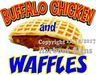 Buffalo Chicken & Waffles DECAL (CHOOSE YOUR SIZE) Food Truck Concession Sticker