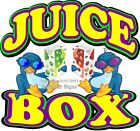 Juice Box DECAL (CHOOSE YOUR SIZE) Drinks Food Truck Sign Concession Sticker
