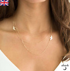 Layered Swallow Necklace Gold Silver Double Swallow Boho Jewellery Uk Seller