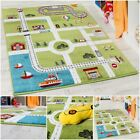 Children Play Mat City Harbour Theme Cheerful Multicoloured Soft Kids Carpet