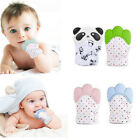 Baby Teething Mitten Silicone Mitt Infant Bite Training Gel Glove Sound Teether