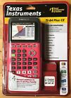 Texas Instruments TI-84 Plus CE Graphing Calculator, Coral (Pink)