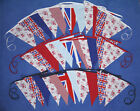 DOUBLE SIDED FABRIC UNION JACK FLAG BUNTING rustic shabby vintage chic regatta