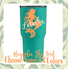 Monogram Vinyl Decal, Sticker personalized mermaid design, for cups and tumblers