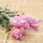 10 Heads Lavender Flowers Silk Artificial Bouquet Wedding Home Party Craft Fine