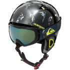 Quiksilver Boys The Game Pack Ergonomic Ski Helmet and Goggle Set