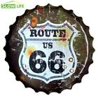 35cm Rust Route 66 Beer Bottle Cap Metal Tin Sign Vintage Home Decor Tin Sign Wa