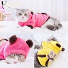 Cute Girl Female Cat Sweater Hoodie Quality Pink Yellow Apparel For Cats Puppy
