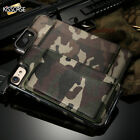 Military Camouflage Leather Kickstand Back Phone Card Slot Case For iPhone 6 7 8