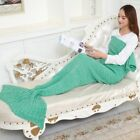 Mermaid Blanket Knitted Mermaid Sleeping Bag Crochet Mermaid Tail Throw Blanket