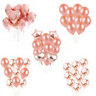 Rose Gold Series Foil Latex Balloons Set Helium Wedding Birthday Hen Party Decor