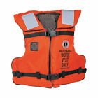 Mustang Work Life Vest w/ Solas Reflective Tape Orange Size Adult Universal