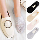 2 Pairs Women Invisible No Show Nonslip Loafer Lace Boat Liner Low Cut Socks US