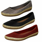 Ladies Clarks Danelly Adira Leather Smart Slip On Shoes D Fitting
