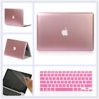 "3in1 Matellic Rose Gold Shiny Hard Case for MacBook AIR PRO Retina 11"" 13"" 15"""