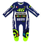 VR46 VALENTINO ROSSI BABIES REPLICA OVERALL RACE SUIT BABYGROW