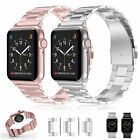 Stainless Steel Wrist Clasp iWatch Band Strap For Apple Watch Series 4 3 2 1 image