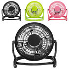 Small Fan Desk Personal Table Cooling Electric Adjustable Tilt Stand Black  H45