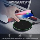 Qi Wireless Charger Pad Cordless Metal For i Phone X Samsung Note8 S7 S8 S9 Plus