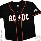 AC DC-BASEBALL JERSEY-EMBROIDERED FRONT & SLEEVE-ANGUS-NEW Lg ANGUS-RARE