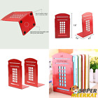 Bookends Book Organizer Heavy Duty Metal Red And Blue For School Office Library $12.93 USD on eBay