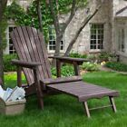 Coral Coast Big Daddy Reclining Adirondack Chair with Pull-Out Ottoman - Dark