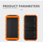 In UK 10000mAh Solar Battery Power Bank Dual USB External Charger For Phone iPad