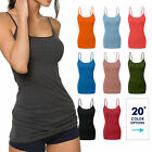 Women's Basic Spaghetti Strap Cami Camisole Tank Top Layering Plain Colors