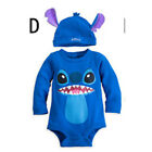 Baby Boys Girls Disney Animal Costume Bodysuit Outfit Romper Clothes Hat Set Top
