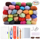 Внешний вид - 36 Colors Wool Roving Fibra Felting Starting Needle Set Wool Hand Craft DIY Tool