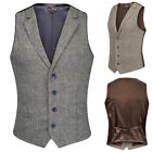 Men's Jacket Blends & Suit 4-buttons Gentle Vest Sleeveless Stylish Slim Wool