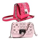 NWT Michael Kors TINA Leather Stud Small Clutch Crossbody Bag In Various Colors