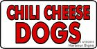 (CHOOSE YOUR SIZE) CHILI CHEESE DOGS DECAL Concession Food Truck Vinyl  Sticker