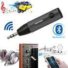 Wireless Bluetooth 4.1 Super Mini Car Aux 3.5mm Audio Receiver Mic Music Adapter