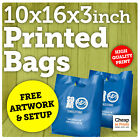 Plastic Carrier Bags | Small Strong Polythene Bag with Custom Personalised Print
