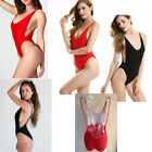 Womens Ladies Swimming Costume One Piece Backless Low Bust Athletic 6 8 10 UK