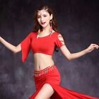 Plus Size New 2018 Women Belly Dance Costumes Short Sleeves Top M L XL