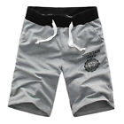 Summer Mens Gym Sport Jogging Cotton Shorts Pants Trousers Casual half Pants US