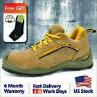Safetoe L 7296 Safety Shoes Mens Work Boots Steel Toe Leather Breathable US Size