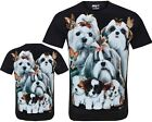 New Ladies Women Cute Pups Animals Pet Dog Dogs T- Shirt Top S- 2XL By Wild