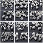 50pcs Tibetan Silver Metal Charms Spacer Loose Craft Beads DIY Jewelry Findings