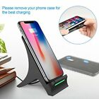 Qi Wireless Fast Charger Charging Pad Stand Dock for Samsung Galaxy iphone 8 X~