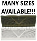 baseboard heat registers - BASEBOARD/AC Vent Wall Sidewall Heat Air Duct Cover Grille White Brown Metal