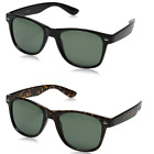 Matte Black Horn Rimmed Sunglasses, Many selections (zeroUV), +Case and Pouch